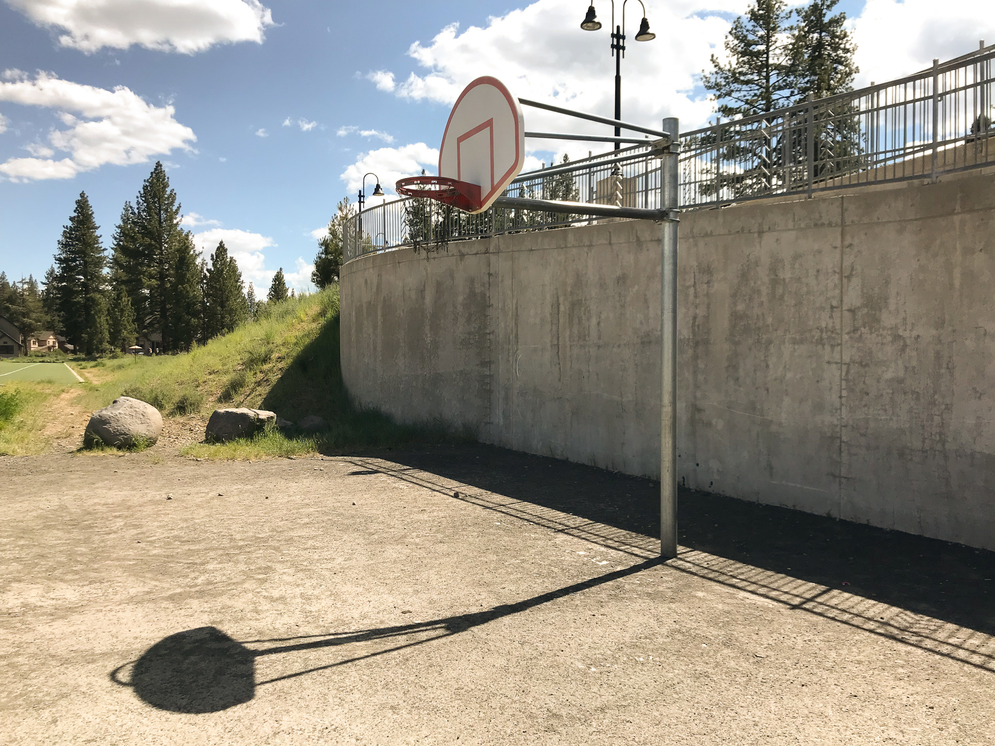 Outdoor basketball court in Truckee Claifornia