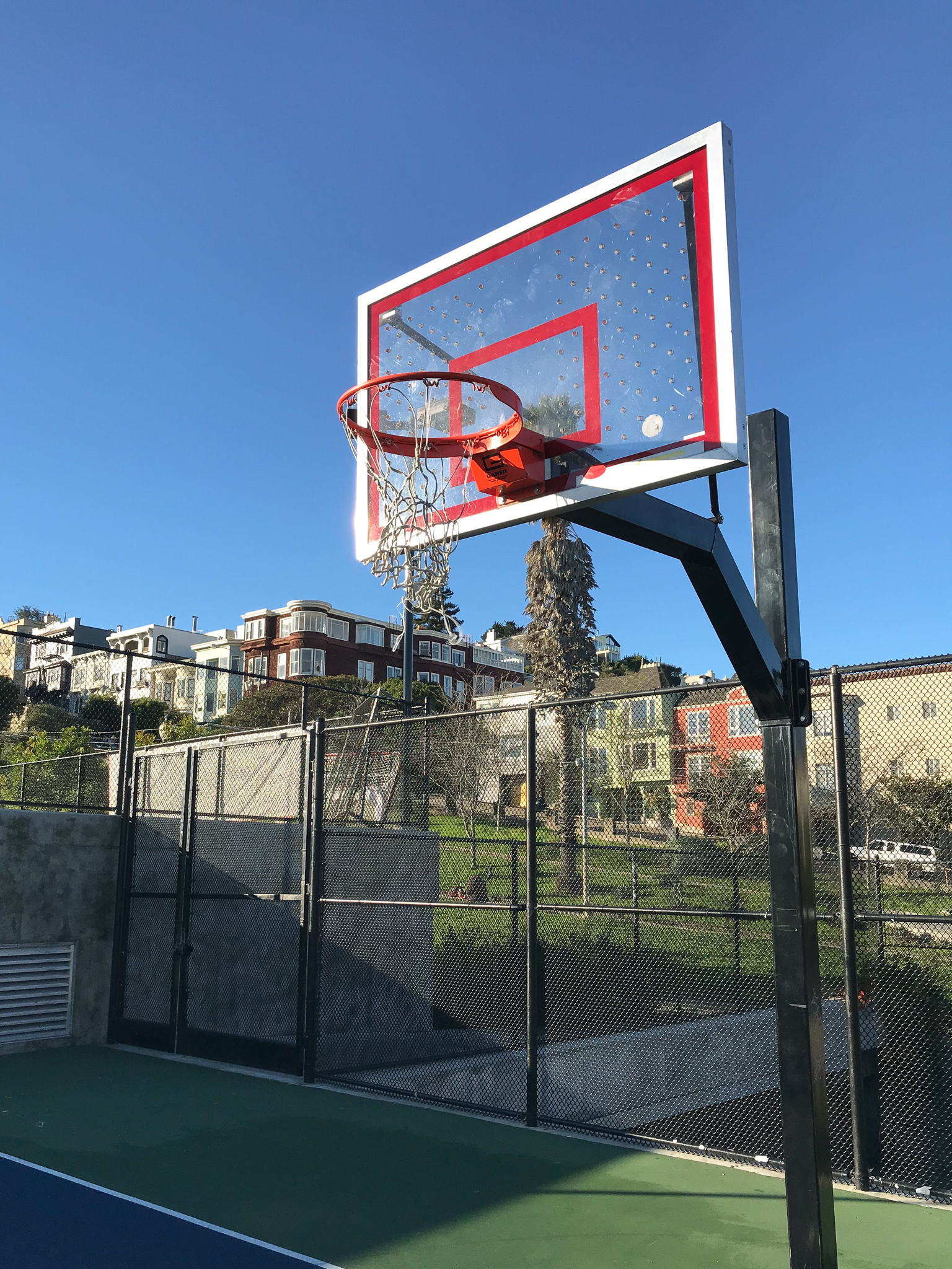 Basketball Courts in San Francisco Dolores Park