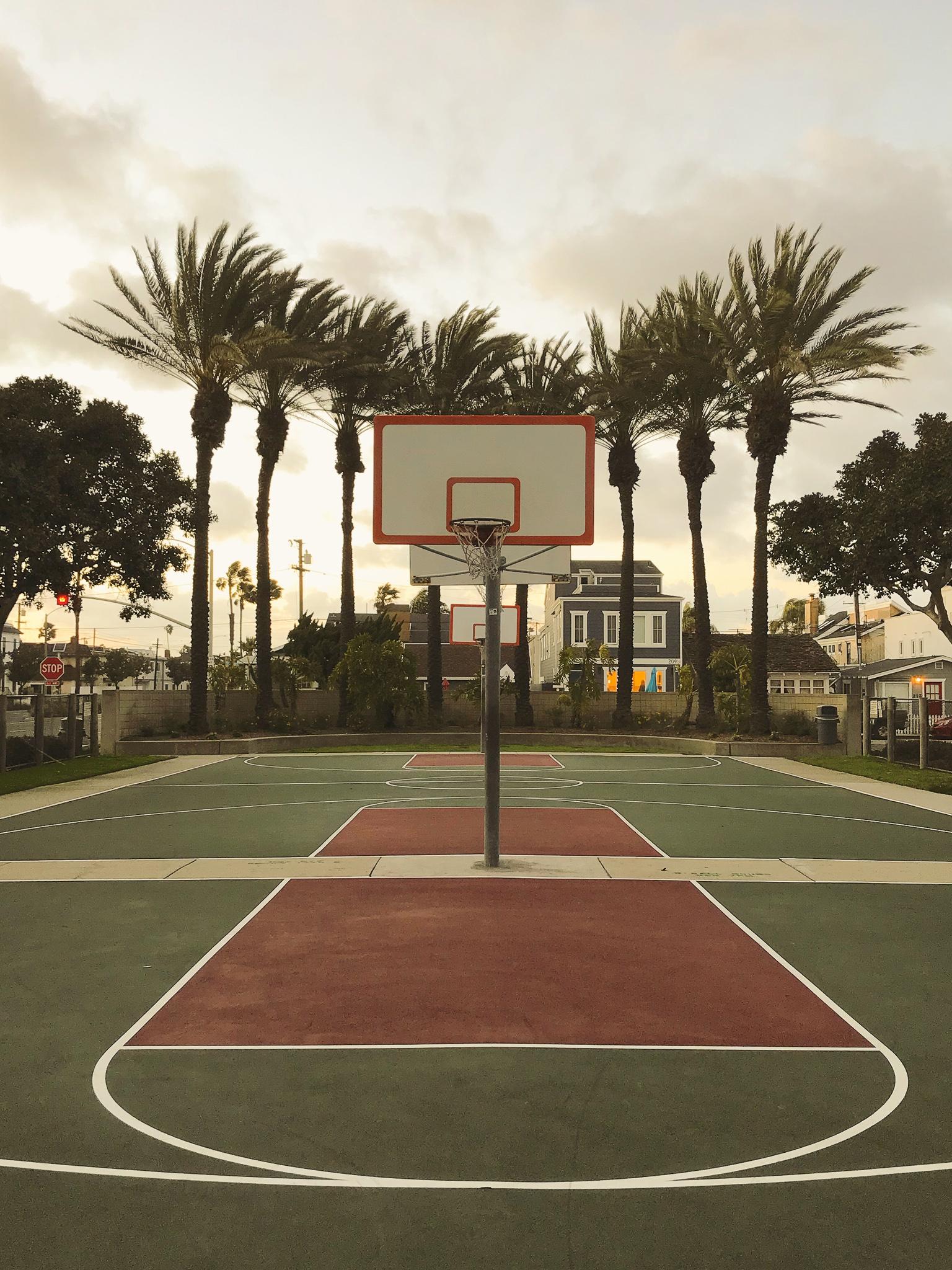 Outdoor basketball court in Newport Beach