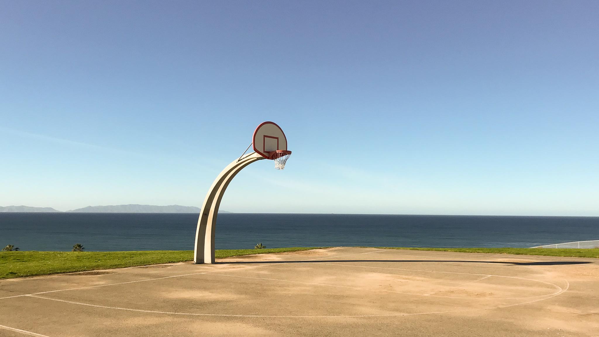 Angels Gate Park outdoor basketball court