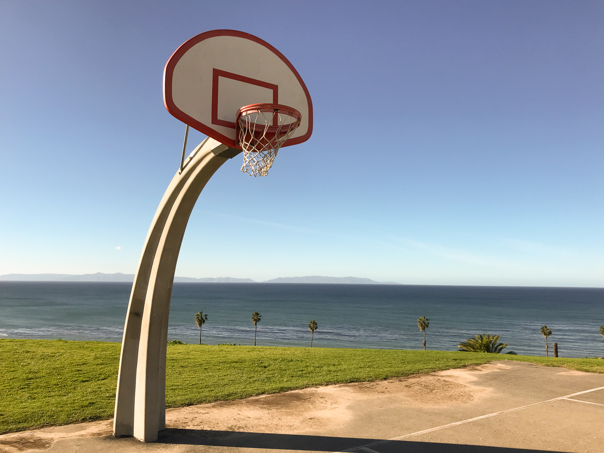 Angels Gate Park is one of the most iconic basketball courts