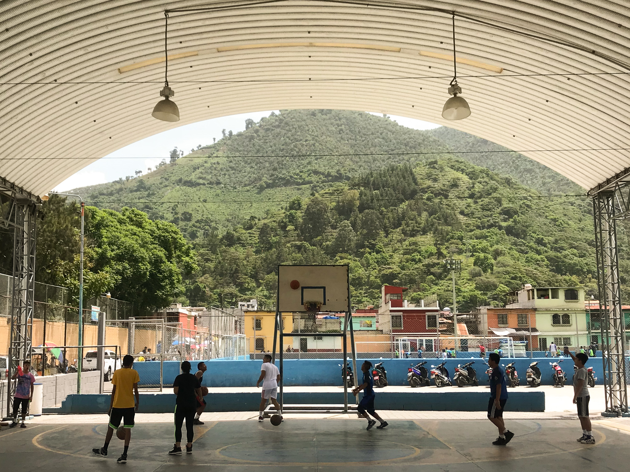 Antigua Guatemala outdoor basketball court