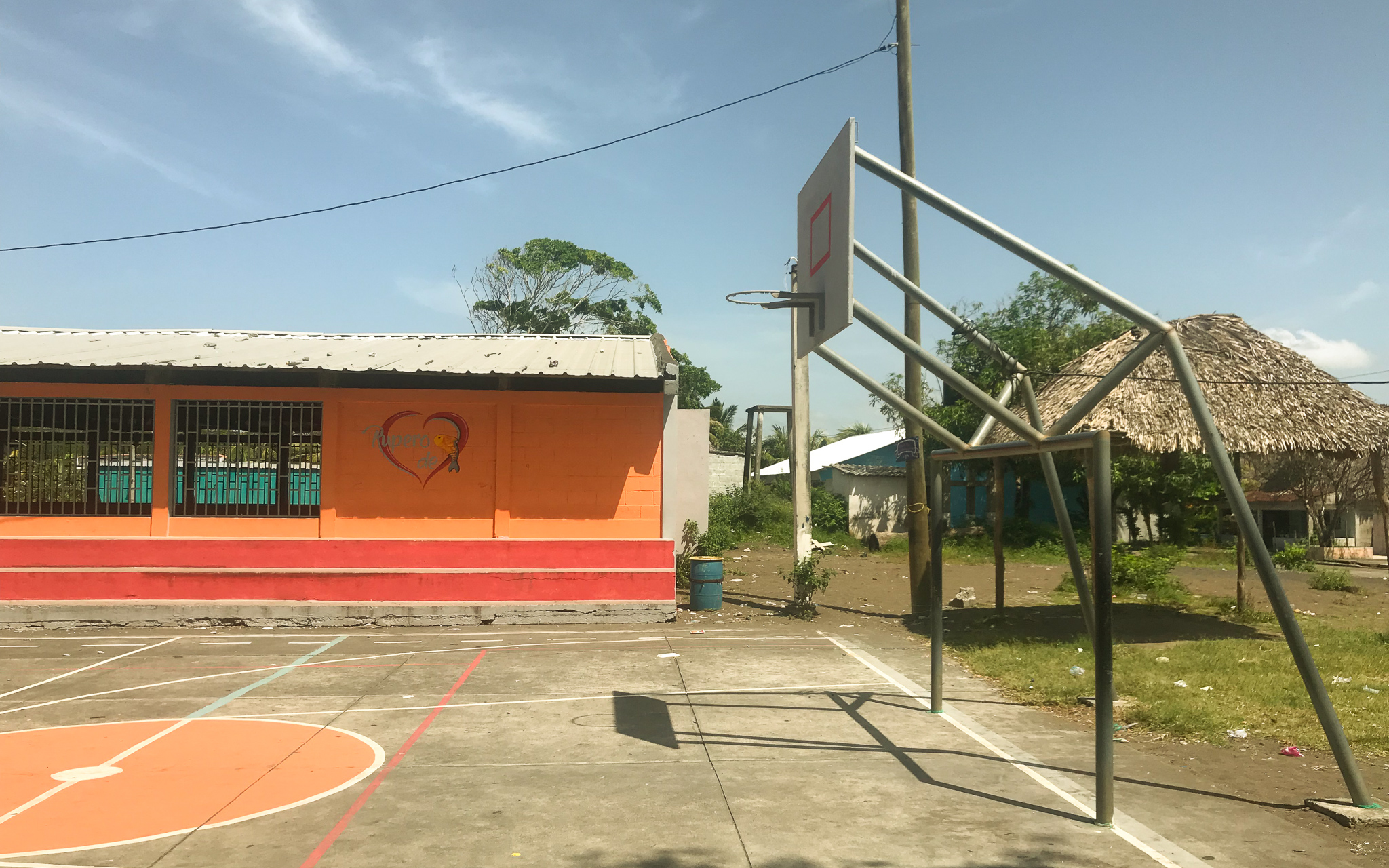 Interesting basketball courts in Guatemala