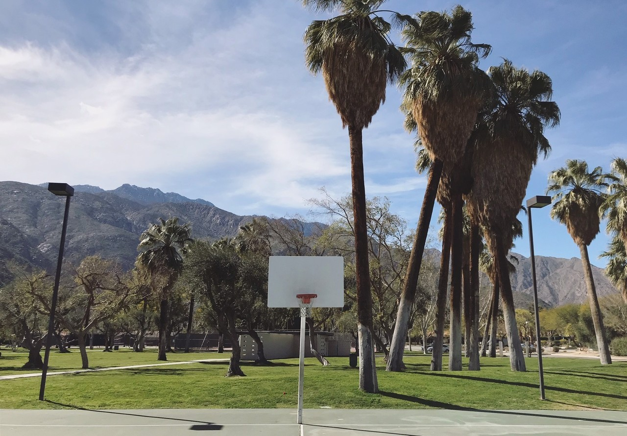 Palm Springs interest basketball courts in California