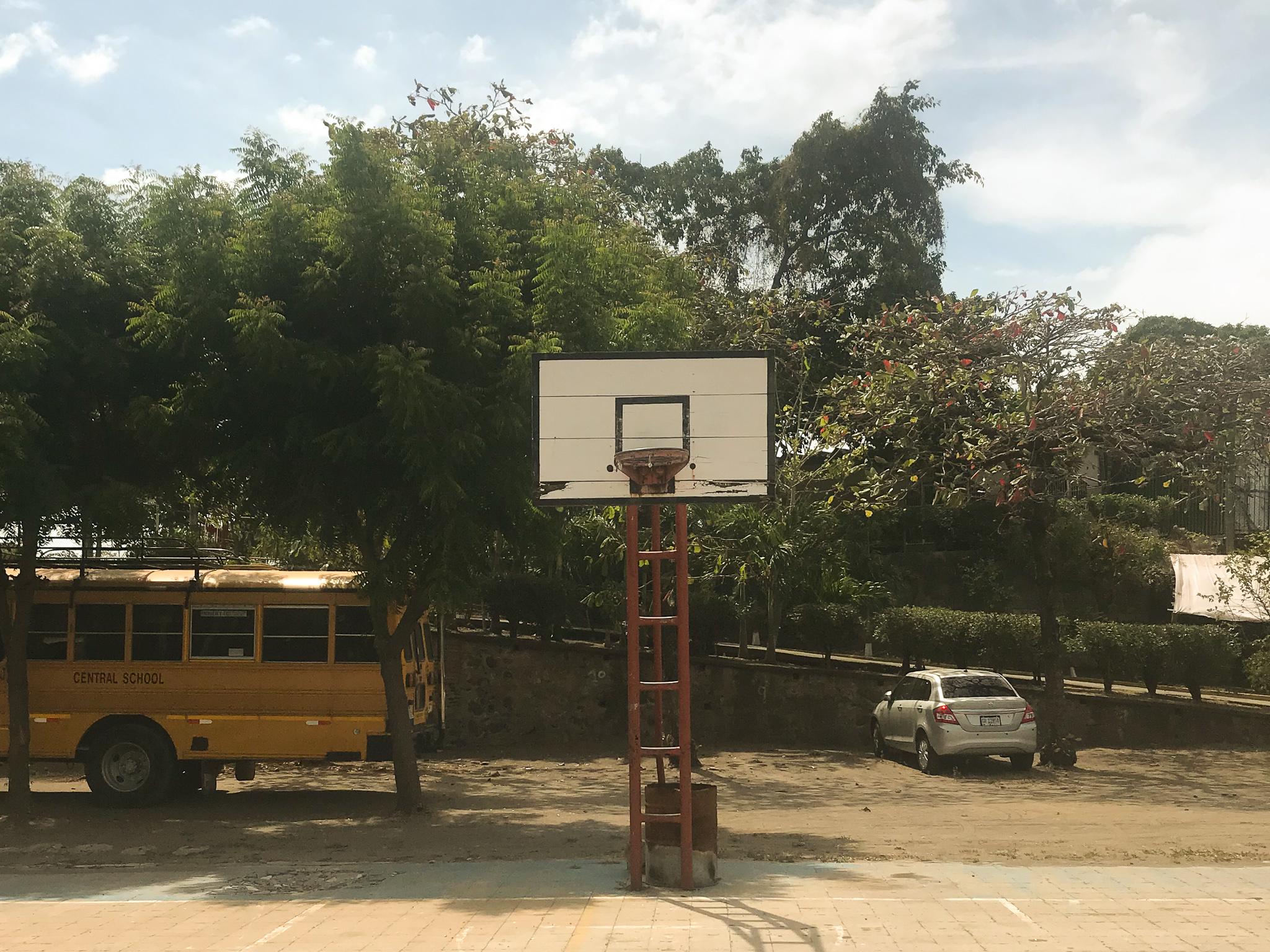 Basketball courts in Central America
