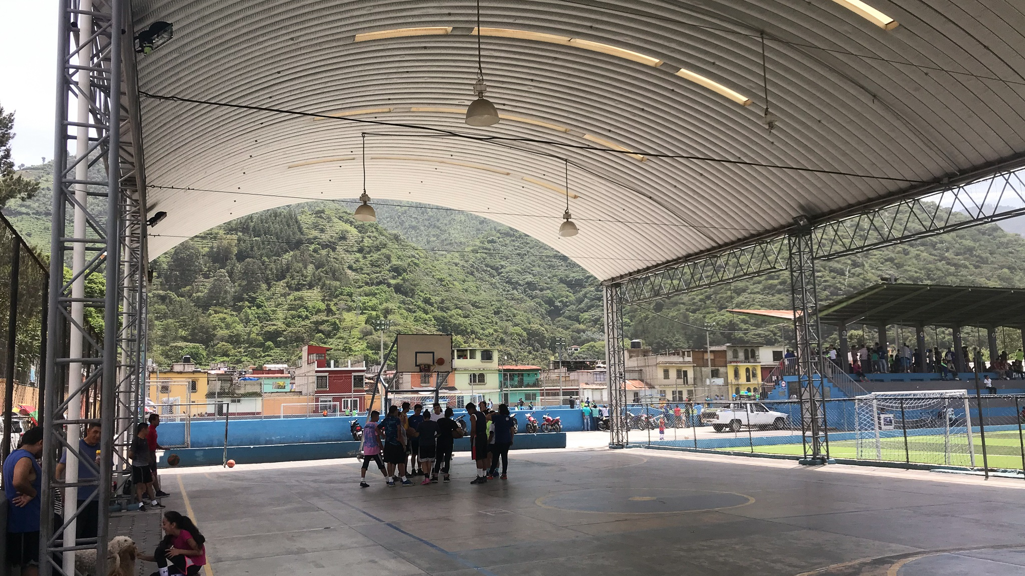 Interesting basketball court in Antigua Guatemala
