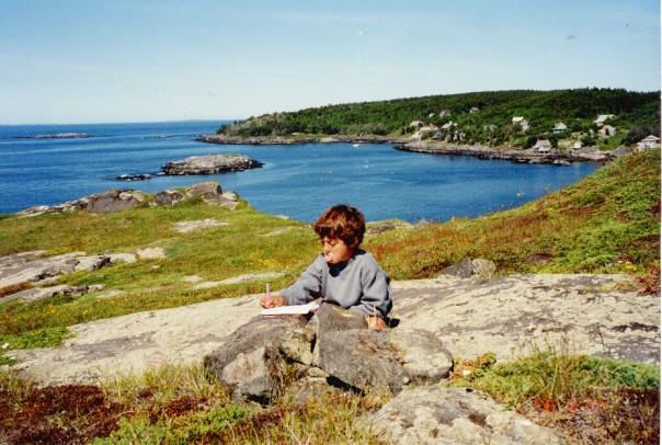 Adam on Manana Island,Maine,c.1996.