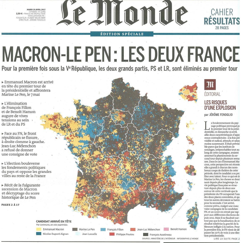 Source:  Le Monde , 25 avril 2017.