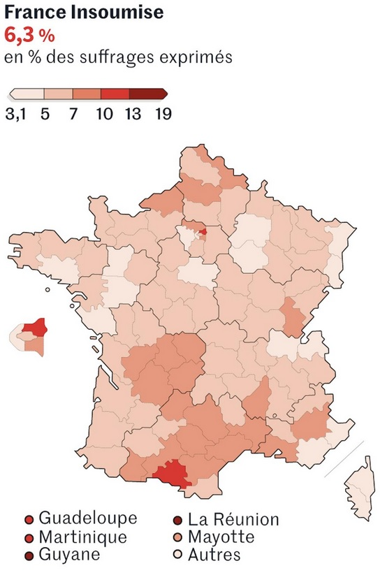 Figure 7 - LFI - Big in the Ariège, Seine-Saint-Denis and overseas… anorexic everywhere else Le Monde, 28 May 2019