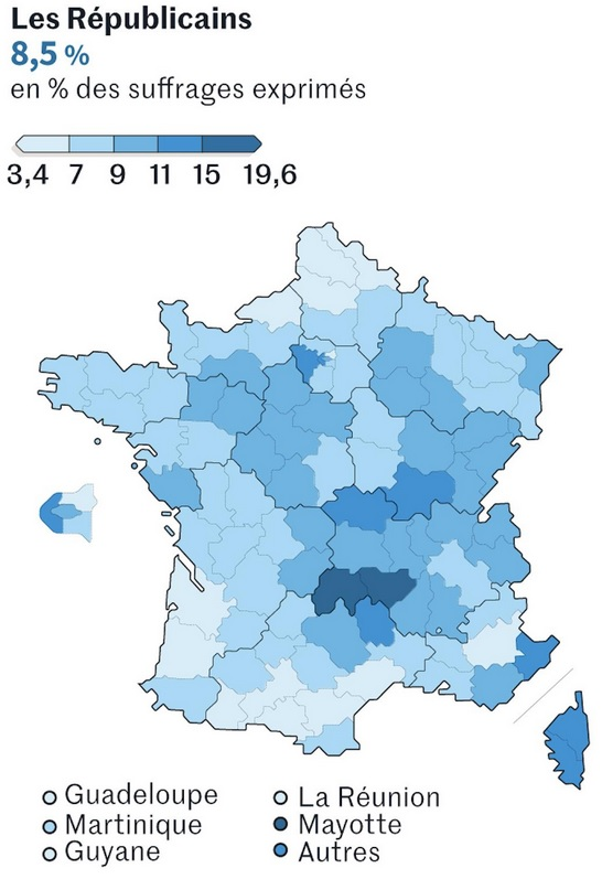 Figure 3 - Les Républicains - strong in the Cantal and Haute-Loire…