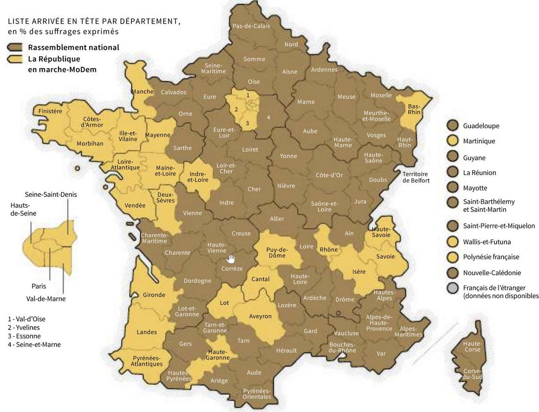 Figure 5 - The LREM/RN head-to-head - from   Le Monde en cartes