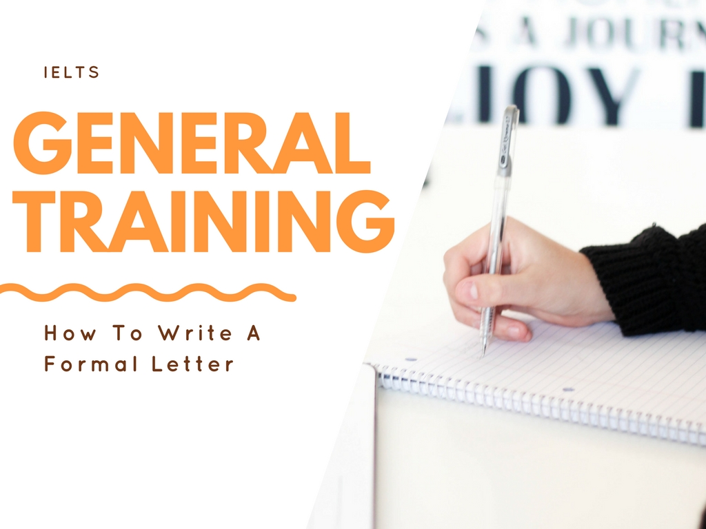 IELTS General Training formal letter