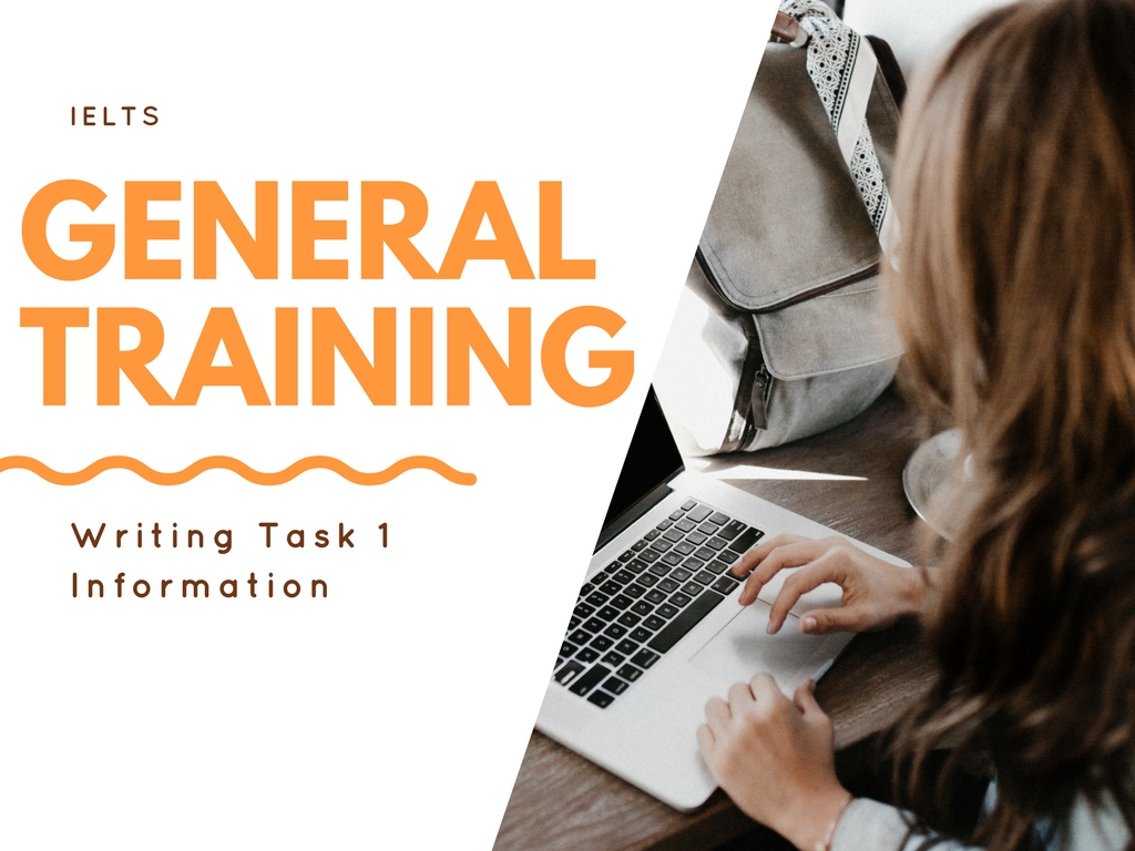 IELTS General Training Writing Task 1