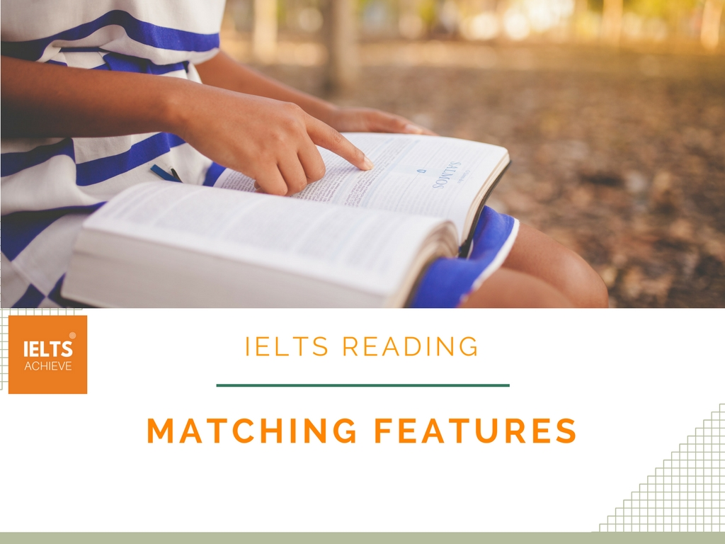 IELTS reading matching features