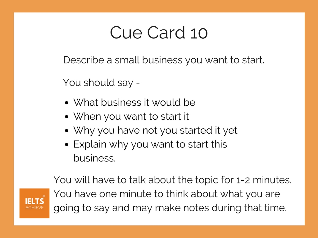 IELTS speaking part 2 cue card example and answer