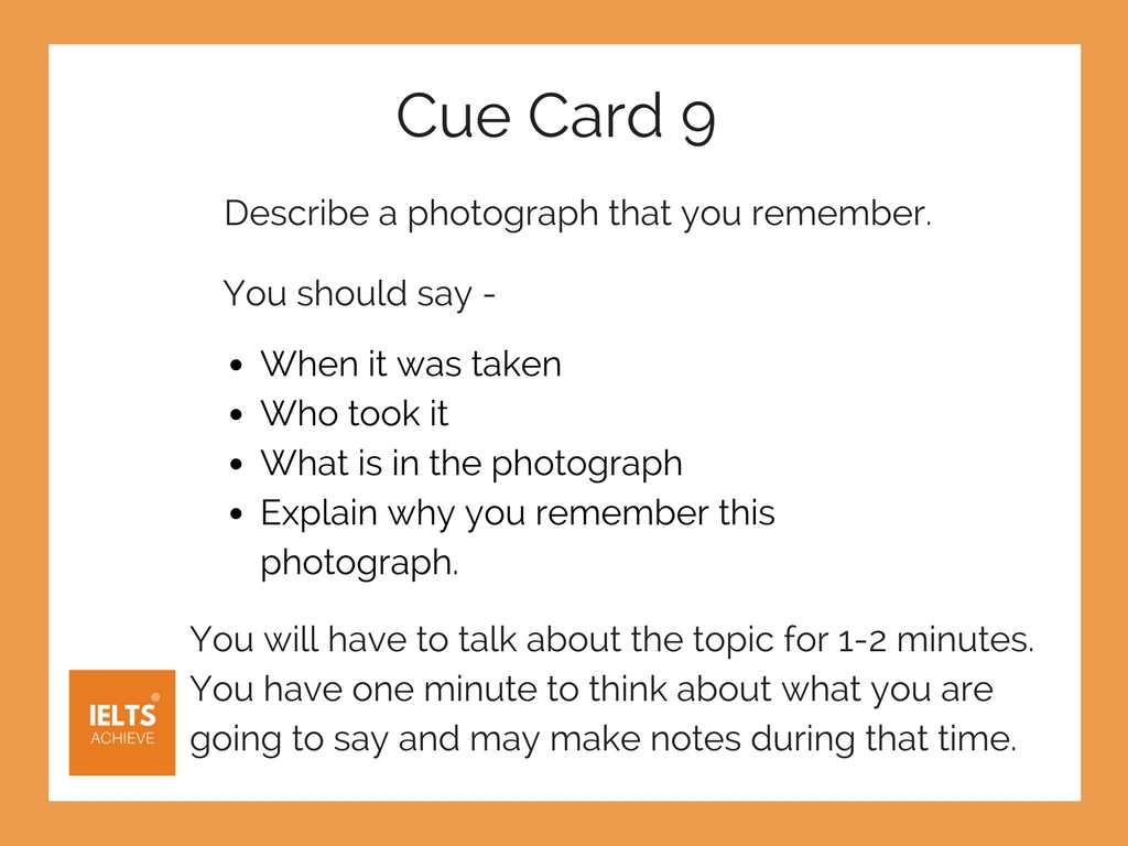 IELTS speaking part 2 cue card example with model answer