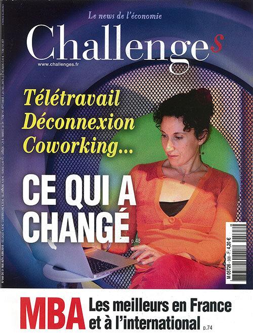 Le dernier numéro du magazine Challenges consacre sa couverture aux révolutions qui touchent les espaces de travail.