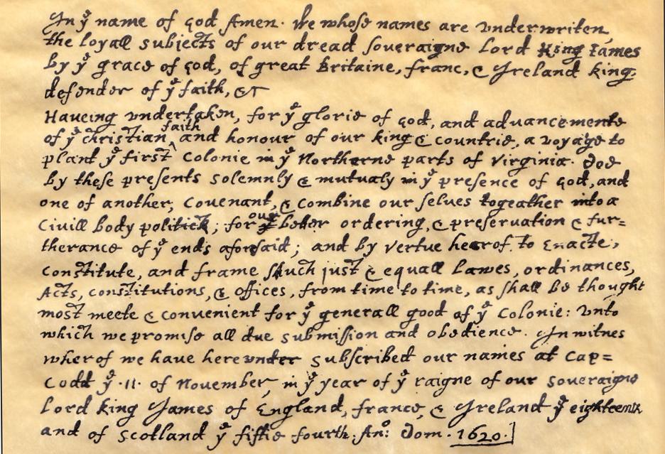 Mayflower Compact (original 1620 Document) - Waianae Baptist Church & Worship Center.jpg