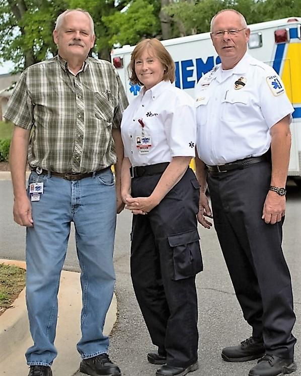 35-Year Emloyees Lewis White, Brenda Bradford, Don Webster