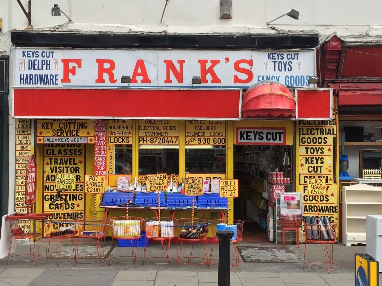 'Frank's Fancy Goods'.