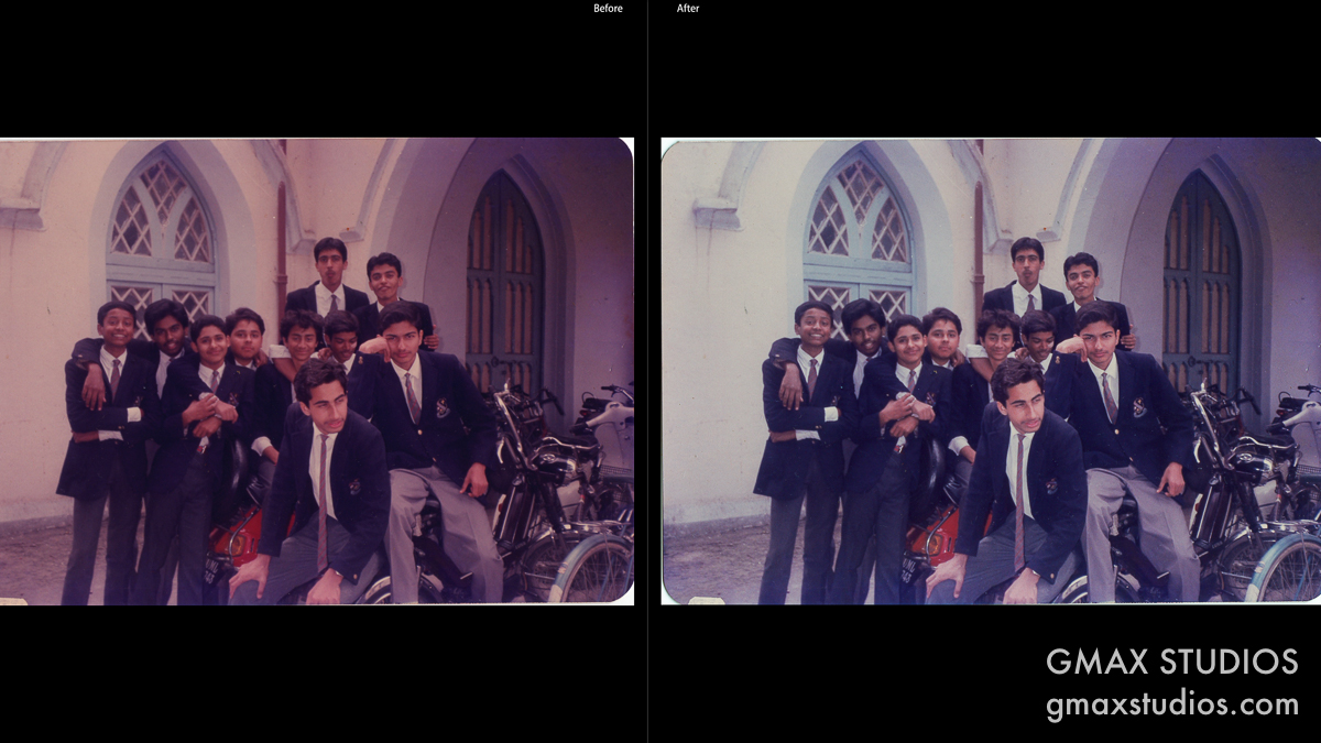 Restore old photographs - Comparison