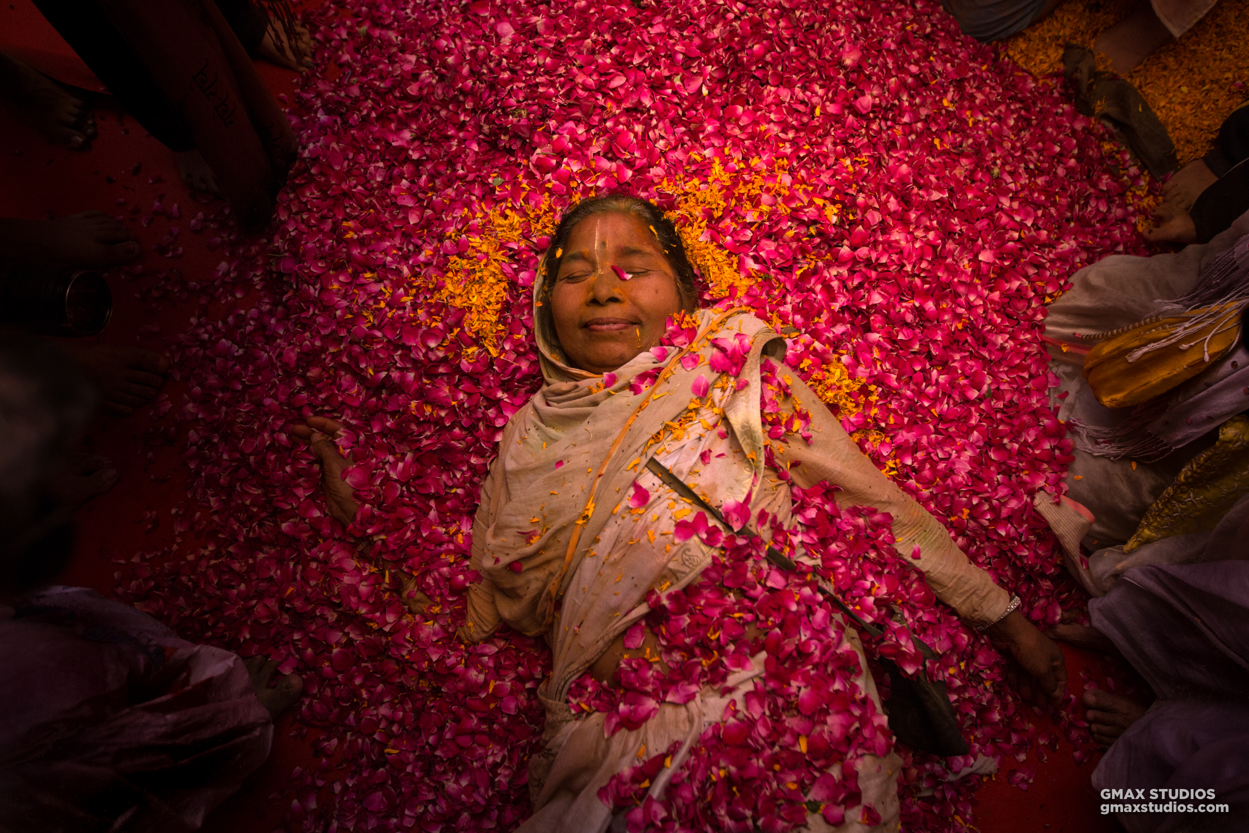 The widows don't partake in the consumption of bhang or any other intoxicants. But clearly, the lady in the picture was having the time of her life.