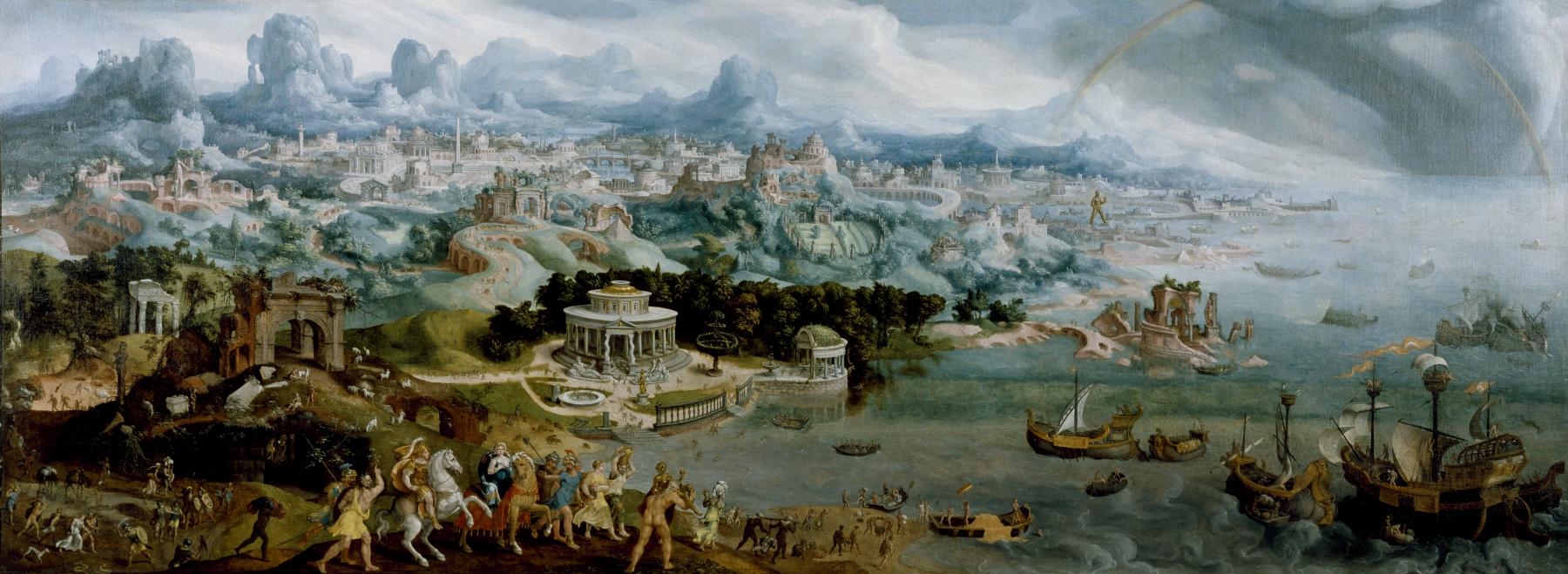 Panoramic Painting By Maerten van Heemskerck