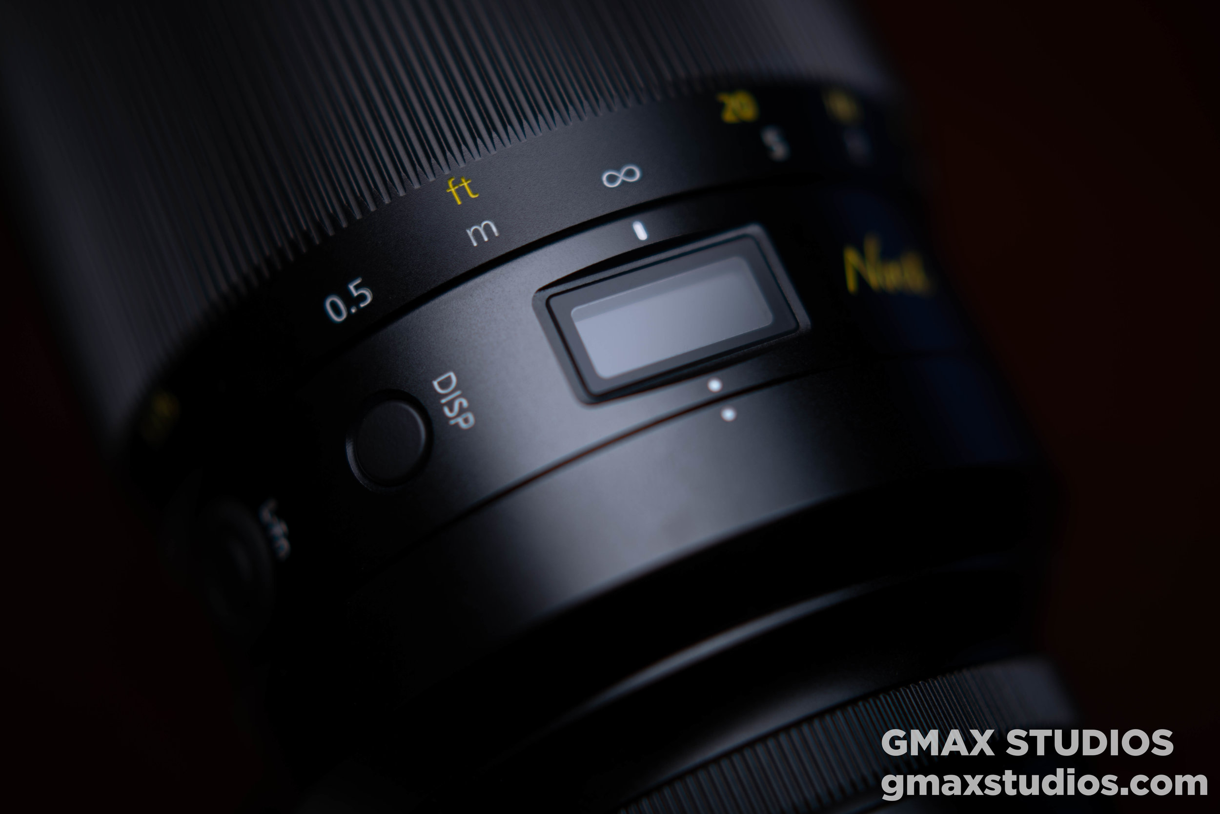 The Noct display or the lens information panel which will confirm aperture, focus distance and depth of field - right on the lens.