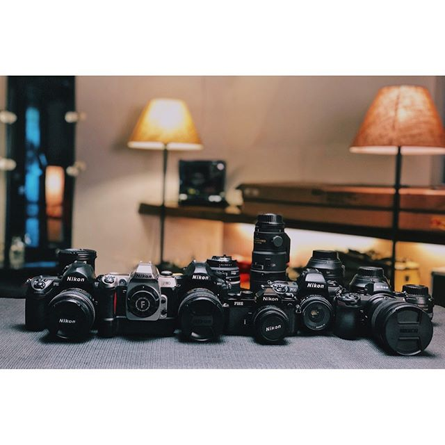It is always a pleasure when @nikonindiaofficial comes over to the studio and gives all the Nikon cameras and lenses a thorough cleaning and service. Thanks @yusufk1207. Seen in frame here are the Nikon F6, F80, F100, FM2n (all film cameras) along with Nikon D850 and Nikon Z7 and an assortment of lenses. #nikon #nikond850 #nikontop #nikonindia