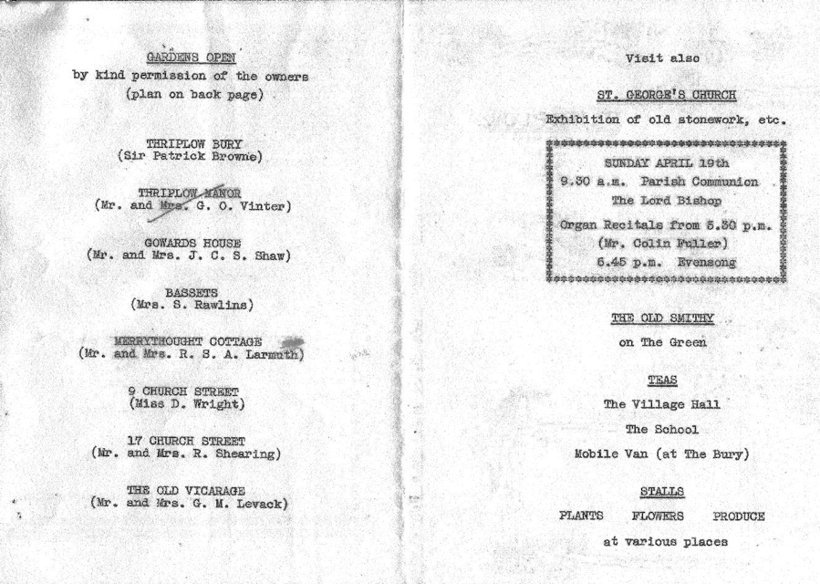 1970 Daffodil Weekend programme