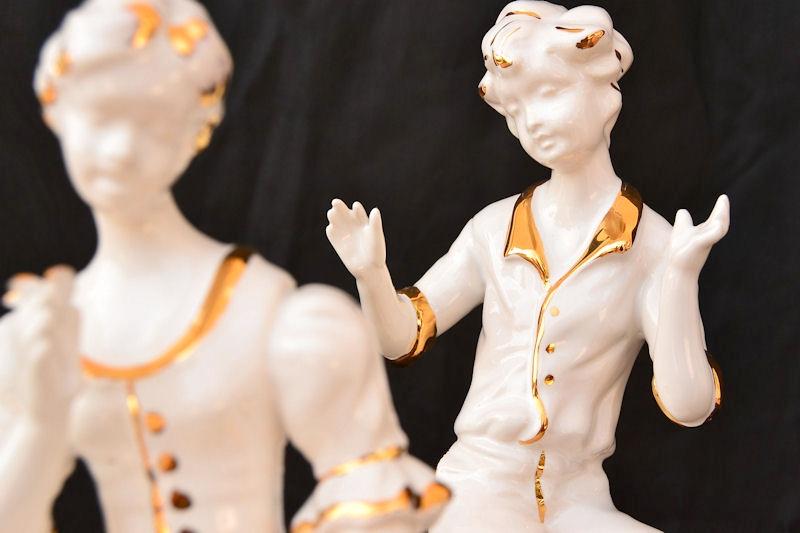 TERSICORE - Ręcznie wykonane i zdobione Złotem Figury