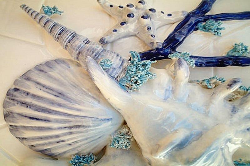 OCEANO - Composizioni di Conchiglie decorate a mano