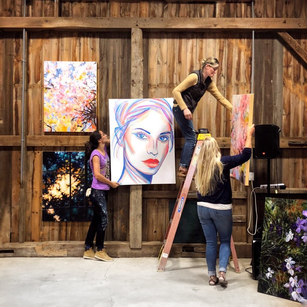 """""""Cycles"""" art show in the Old Barn"""