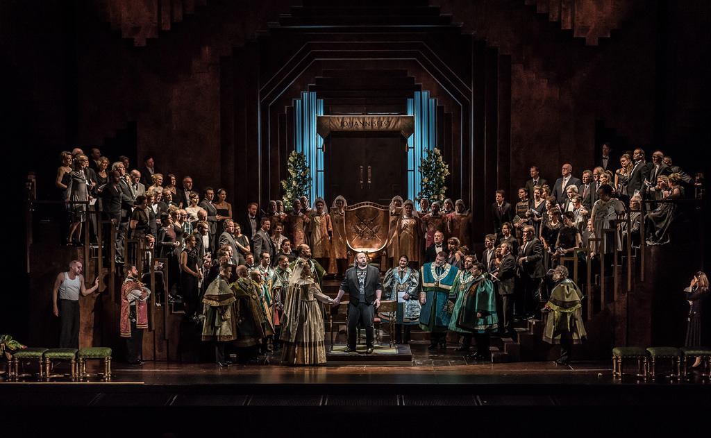 Production photo of Die Meistersinger von Nürnberg, The Royal Opera © 2017 ROH. Photograph by Clive Barda