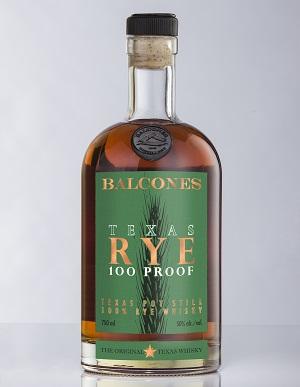 Balcones Texas Rye 100 Proof.Rye is always green.