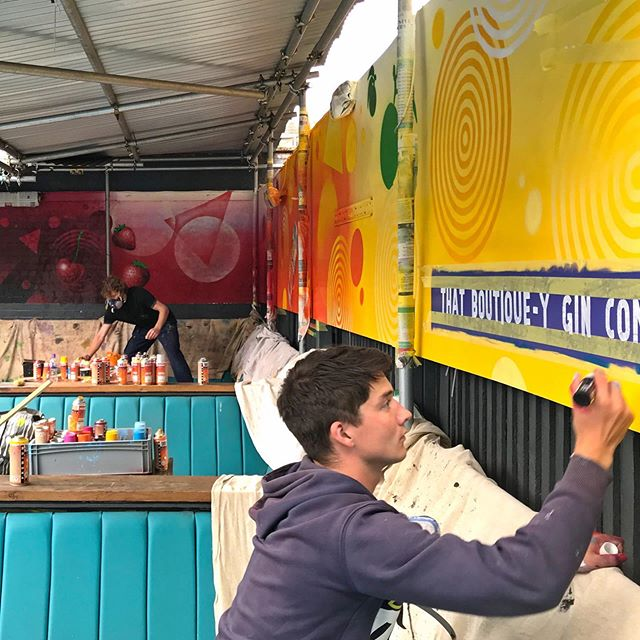 The team at brand new @industrynightclubdartford have been inspired by the @boutiqueygin Craft Cocktail cans - enough to dedicate their outside space to a Craft Cocktail graffiti mural! Thanks for working with us guys