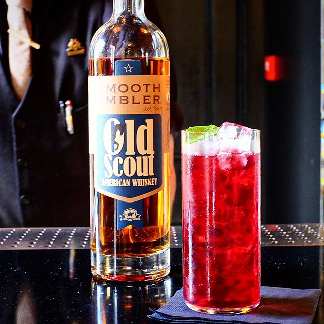 Congratulations to @thomwpds from @theedgbaston for winning our @smoothambler cocktail competition with his fantastic creation Old Suite 40 - a combination of Old Scout American Whiskey, Manzana Verte, Rye Grain Cordial and fermented and brewed hibiscus and maple tea