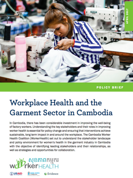 Workplace Health and the Garment Sector in Cambodia