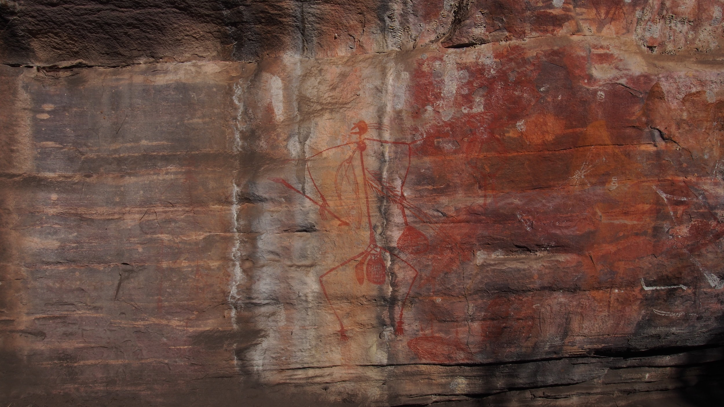 A Lesson In Good Behaviour' - This painting of Mabuyu reminds Traditional Owners to tell a story which warns against stealing.