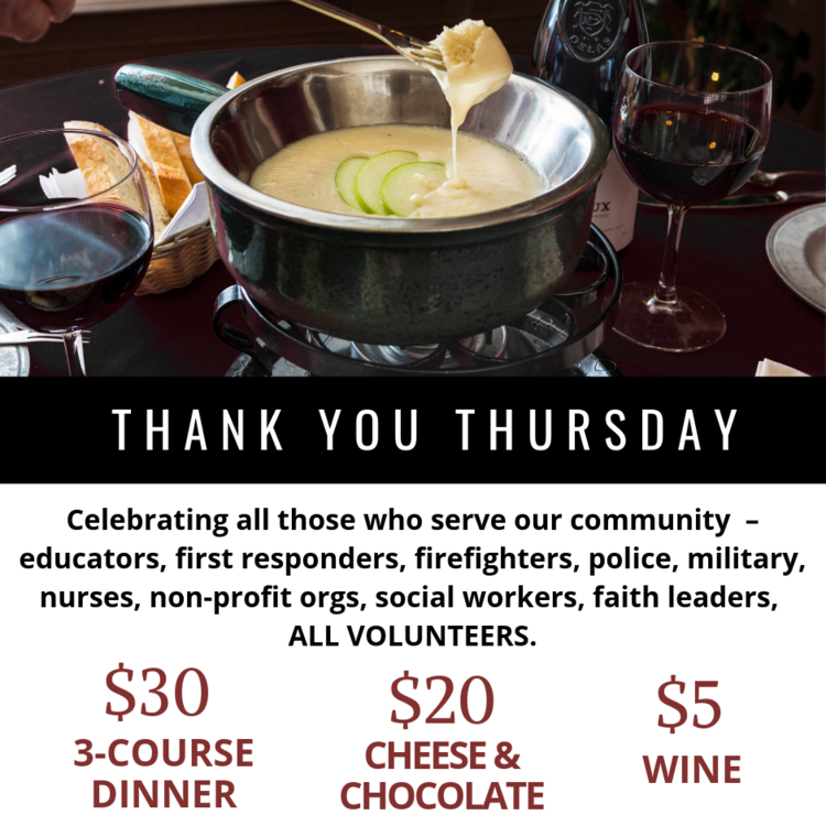 3 Great offers for those who serve - THANK YOU THURSDAYS