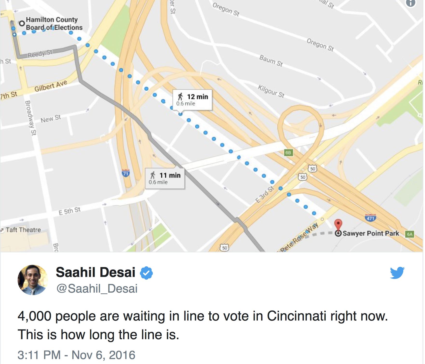 TWEET 1/2 MILE LINE