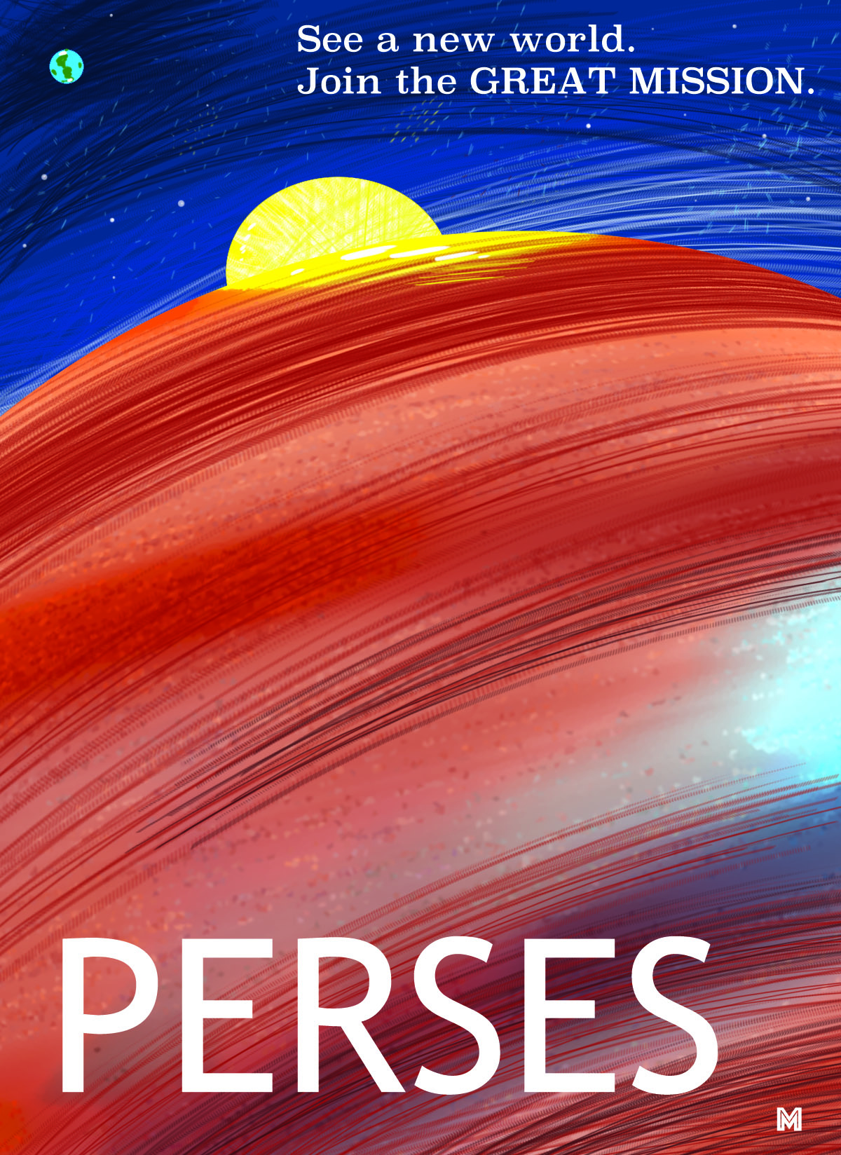 A travel poster for Perses - from MINRS  (CLICK HERE FOR PDF)