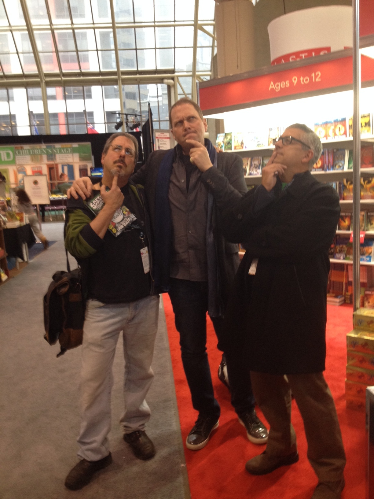 Me and my pals Dav Pilkey and Alan Silberberg. (TIP: Stand in front when they take the pic. You'll look taller!)