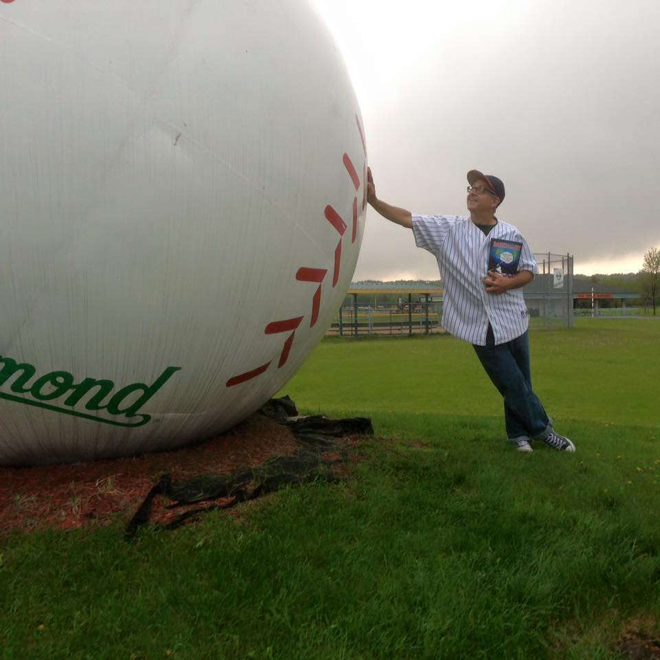 I am MUCH shorter than this baseball in Sault Ste. Marie, Ontario.