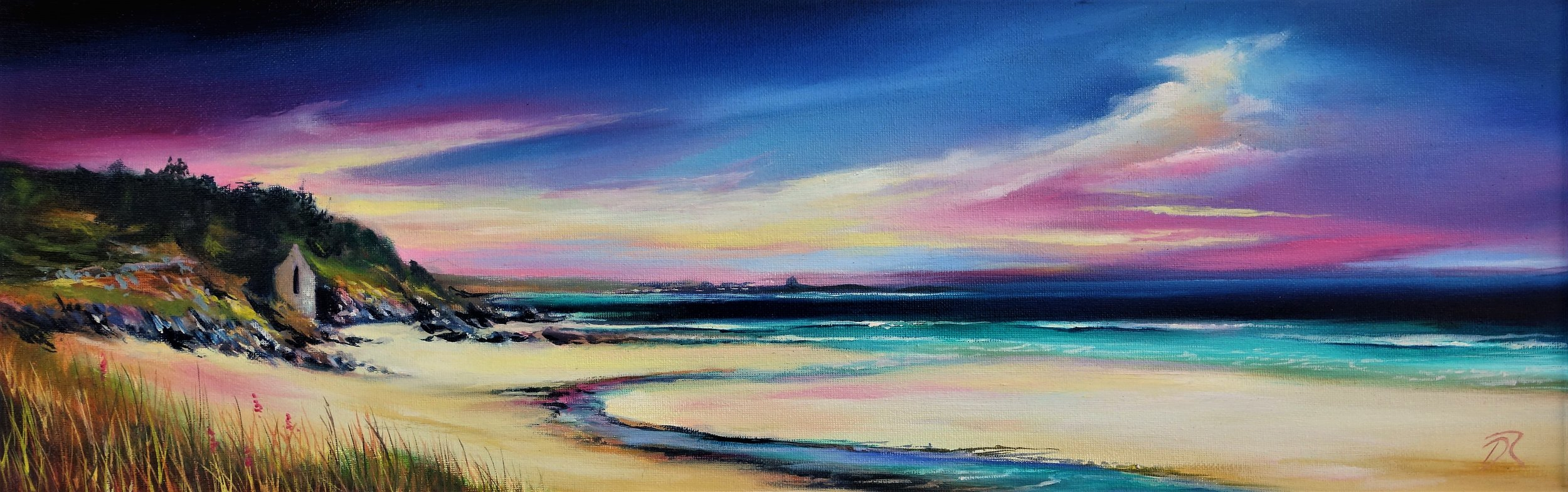 2017 The Colours of Kilnaughton  | Framed | Oil on Canvas | 19 x 59 cm |  SOLD |  Prints   Availible