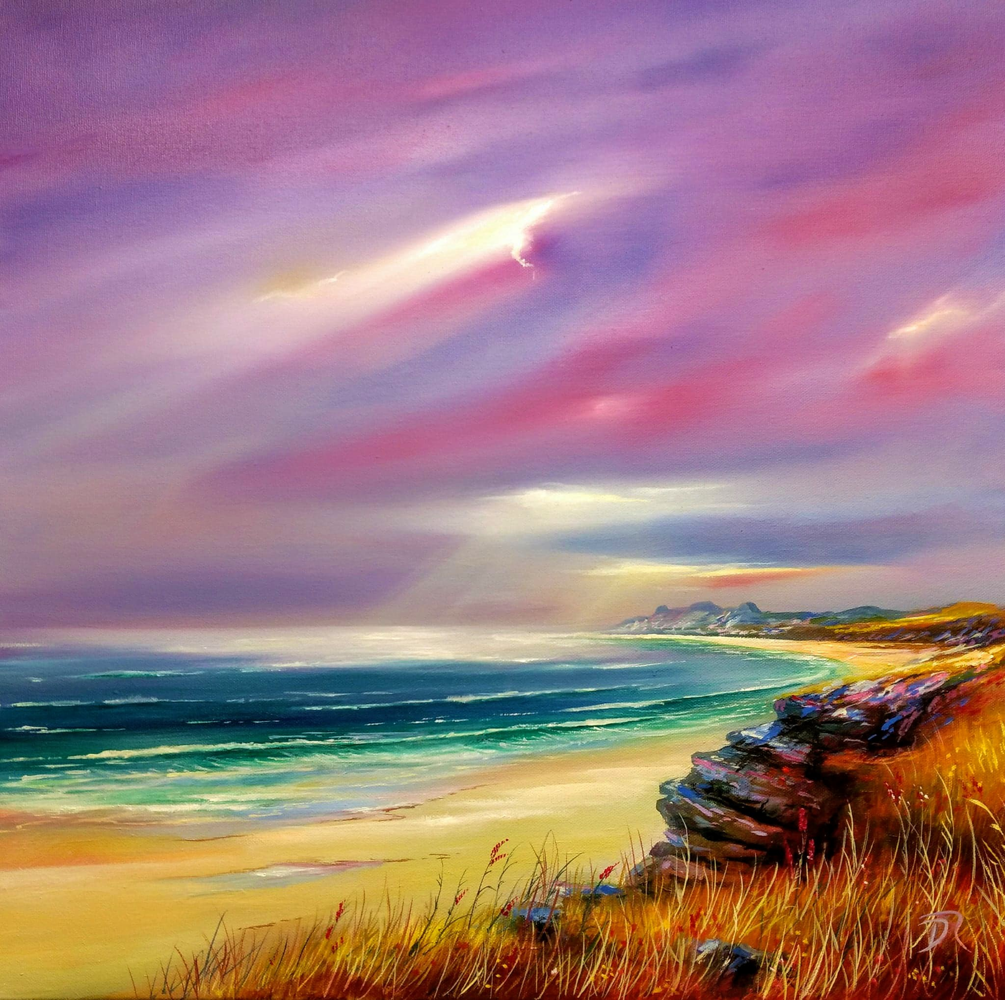Isle of Coll's Ethereal Light | Oil on Canvas | 50 x 50 cm |  Sold