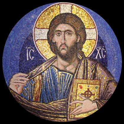 Pantocrator mosaic, Cardiff, Wales.