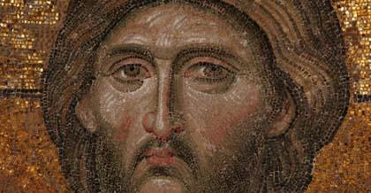 Deesis mosaic of Christ, 13th Century, Agia Sophia