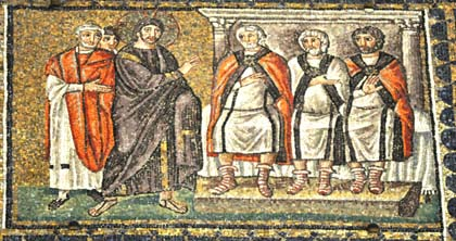 Caiaphas the high priest. Apollinare Nuovo, Ravenna6th century