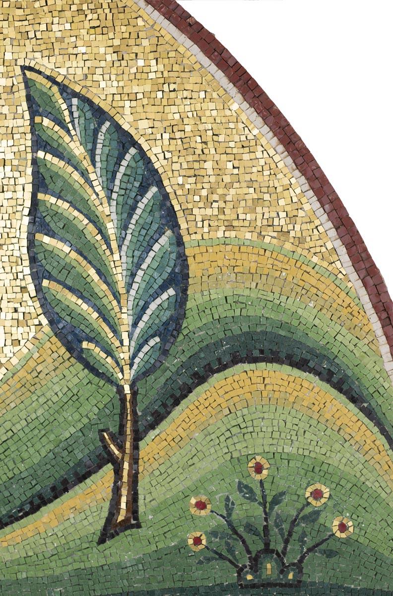 Vegetation, Saint George Mosaic, St George's, Houston, Texas